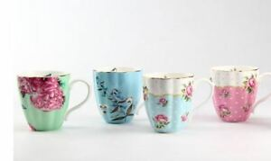 English Afternoon Mug Set/ Four different mugs Free postage