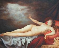 Dipinto Olio su Tela - 90x120 cm - Nudo di Donna - Quadro Dama Ritratto Venere