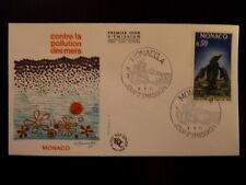 MONACO PREMIER JOUR FDC YVERT   859   OISEAU , POLLUTION DES MERS  0,50F    1971