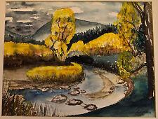 Vintage 1969 Watercolor painting by Almac