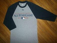 2008 MLB BASEBALL ALL STAR GAME T SHIRT Raglan Jersey Sleeves Yankee Stadium SM