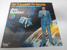 """JIM BAKKER HOW TO ACCOMPLISH THE IMPOSSIBLE 12"""" SEALED VINYL RELIGIOUS LP"""