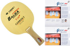 Custom-made table tennis bat: Galaxy T-10+, with 2 sides Palio Macro Pro Pips-in