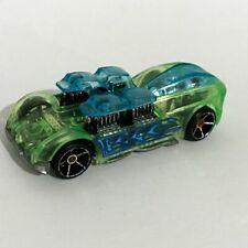 2004 Hot Wheels WHAT 4 2 Green Blue Cast Car