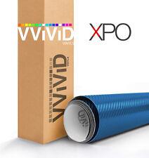 VViViD Metallic Blue carbon fiber vinyl car wrap 5ft x 5ft decal air release XPO