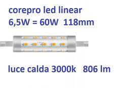 Philips lampada led 6,5W - 60W R7s sostituisce alogena lineare 118mm 806 lumen