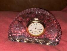 crystal glass small clock (158)