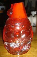 Fenton Ruby Red Santa Fairy Lamp - 2 pc Vintage 1975