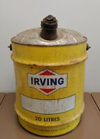 Vintage Irving Can 20 Litres Saint John Quebec