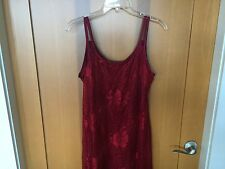 Cute Ladies Lined Lace Bathing Suit / Swimsuit Cover Up, Nightgown - Size L
