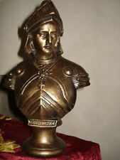 Buste statue Jeanne d'Arc guerrière patine bronze fabrication artisanale