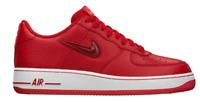Nike Air Force 1 Low Jewel Check Swoosh Sport Red 488298-605 Size 10.5 NEW W BOX