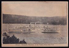 Vintage Antique Postcard Steamer Alexander Hamilton of the Hudson River Day Line