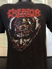 Vtg 91 Kreator Coma Tour Shirt Sz M/L Satanic Thrash Rock Morbid Death Metal 666