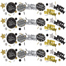 Birthday Party Tableware Supplies Black Gold Decorations Adult Teen Accessories