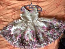 Monsoon Niñas Edad 7 Crema Floral Vestido rosa con Apliques Fiesta Falda de tul Completo Suave