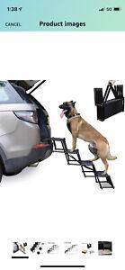 Heeyoo Nonslip Car Dog Steps, Portable Metal Frame Large Dog Stairs