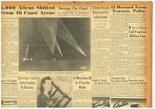 UFO Sighted Guns fire 1400 Rounds Mystery Objects Los Angeles Feb 26 1942 B20
