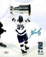 Yanni Gourde autographed signed 8x10 photo NHL Tampa Bay Lightning PSA COA