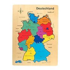 Legler Puzzle Deutschland Setzpuzzle mit Allen Bundesländern Holzspielzeug
