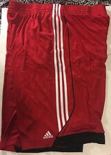 Adidas Big Tall Scarlet Red/ White 3G Speed 2 Athletic Shorts 2XLT NWT Climalite