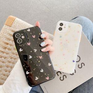 Glitter Foil Heart Soft TPU Phone Case For iPhone 7 8+ 11 Pro XS Max XR 12 mini