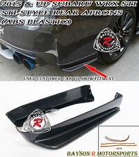 ST-Style Rear Aprons (ABS Plastic) Fits 15-18 Subaru WRX STi VA1 VA2 4dr