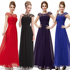 .Long Women's Chiffon Evening Party Formal Bridesmaid Prom Gown Dress S