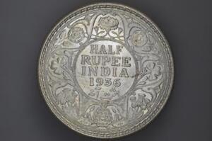 India - 1936 - Half Rupee - Calcutta - KM522 - (OM-A1254)