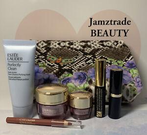 Estee Lauder 7pc Gift Set*Cleanser*Day&Eye Cream*Mascara*Lipstick*Lip Pencil*Bag