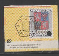 Czech Cinderella revenue fiscal stamp 8-30-8