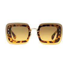 Miu Miu MU02R 7S00A3 Havana Frame Brown Gradient Lens Sunglasses
