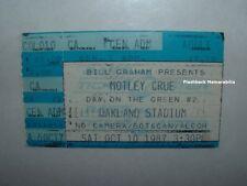 MOTLEY CRUE / WHITESNAKE 1987 Concert Ticket Stub OAKLAND STADIUM Jetboy RARE