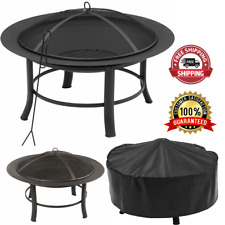 New listing Outdoor Fire Pit With Pvc Cover And Spark Guard Weather Heat Resistant Sturdy