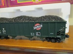 MTH 20-90016D Chicago Northwestern 4-Bay Hopper w/ Coal Load ;  NIB