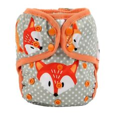 Baby Diaper Cover Nappy Cover Double Gussets Reusable One Size Fox