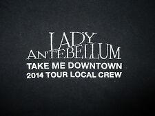 LADY ANTEBELLUM CONCERT LOCAL CREW T SHIRT Take Me Downtown Tour 2014 Beat-up XL