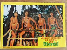 Erotik Aushangfoto 4 x BUSEN Zwei Teufelskerle auf dem Weg zur grünen Hölle