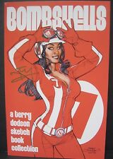 "TERRY DODSON BOMBSHELLS 2013 SIGNED SKETCHBOOK ASHCAN SIZE 8.5"" X 5.5"" RARE VHTF"