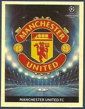 PANINI UEFA CHAMPIONS LEAGUE 2009-10- #073-MANCHESTER UNITED TEAM BADGE-FOIL