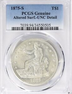 1874-S Trade Dollar - PCGS Uncirculated Details - Future Breakout! No Reserve