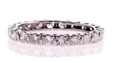 Eternity Band 14k White Gold Natural Round Diamond Ring 1.00 CTW G-H SI1