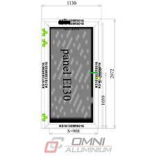 Aluminium Brandschutztür T30 Panell 1130 x 2072 mm Rauchdicht Anschlagdichtung