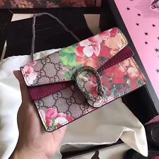 Gucci Dionysus GG Blooms super mini bag Shoulder Cross Body New Authentic Red