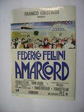 AMARCORD - RARO CINEADESIVO 10X15 CM - NUOVO - FEDERICO FELLINI