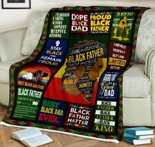 Throw Black Father Hard-Working Blanket, Black Identity, Gifts for Father