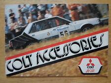 MITSUBISHI Colt ORIG 1977-78 UK Inchiostri Accessori SALES BROCHURE