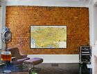 """Large Vintage Map 1932 Los Angeles Printed on Canvas 48"""" x 75"""" - 100s of Places"""