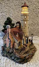 Thomas Kinkade Guiding Point Lighthouse Sculpture