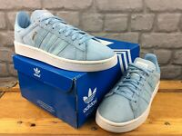 ADIDAS LADIES UK 4 EU 36 2/3 CAMPUS J SUEDE ICE BLUE WHITE TRAINERS RRP £75 M